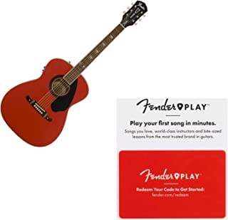 Fender 0968300054 Tim Armstrong Hellcat FSR Acoustic-Electric Guitar - Ruby Red