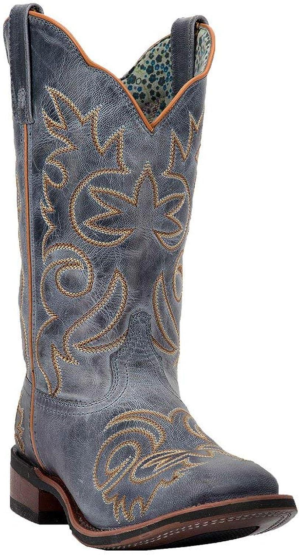Laredo Western Boots Womens Eva Broad Square Stockman Red 5679
