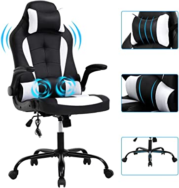 Racing Office Chair Gaming Chair High Back Computer Chair Desk Chair Executive Back Tilt Ergonomic Backrest & Height Adjustab