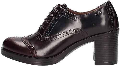 N.g. noirGiardiniA806351DBordeaux, Chaussures de de Ville à Lacets pour Femme  mode