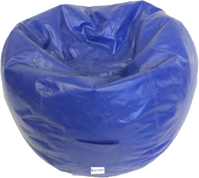 Boscoman - Adult Round Vinyl With Pocket Beanbag Chair - Twilight bluee (BOX M)