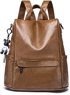 NIYUTA Femme sacs a dos PU sac a dos antivol peau douce mode porte epaule étanche grande capacité