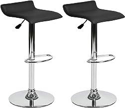 HOMEMAKE FURNITURE Taburetes de bar de diseño moderno con altura ajustable y rotación de 360 °, taburetes ergonómicos de...