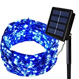 SOLARMKS Solar String Lights, 150 LED Fairy Lights 8 Mode Flexible Multi-Colored Copper Wire Lights, Waterproof Outdoor String Lights for Patio Garden Yard Window Christmas Xmas Tree Decorative