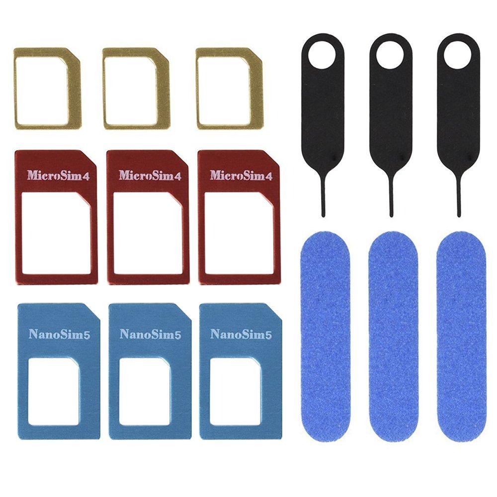 Mudder 3 Juegos Adaptador de Tarjeta SIM, Kit de 5 en 1 Convertidor de Tarjeta SIM Nano Micro Estándar con Carpeta de Tarjeta SIM y Aguja: Amazon.es: Electrónica