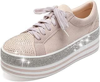 Mackin J 409-1 Women's Faux Leather Platform Lace Up Sneaker with Faux Diamonds
