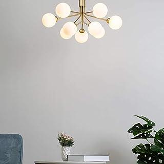 KOSILUM - Lustre élégant doré à 9 boules - Audrey - EN SOLDES ! - Lumière Blanc Chaud Eclairage Salon Chambre Cuisine Coul...