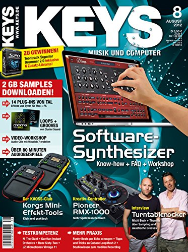 Keys 8 2012 - Software Synthesizer - 2 GB Samples zum Download - Personal Samples - Free Loops - Audiobeispiele