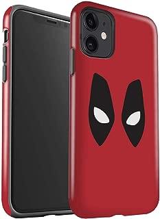 eSwish Matte Tough Shock Proof Phone Case for Apple iPhone 11 / Deadpool Mask Inspired Design/Super Hero Comic Art Collection
