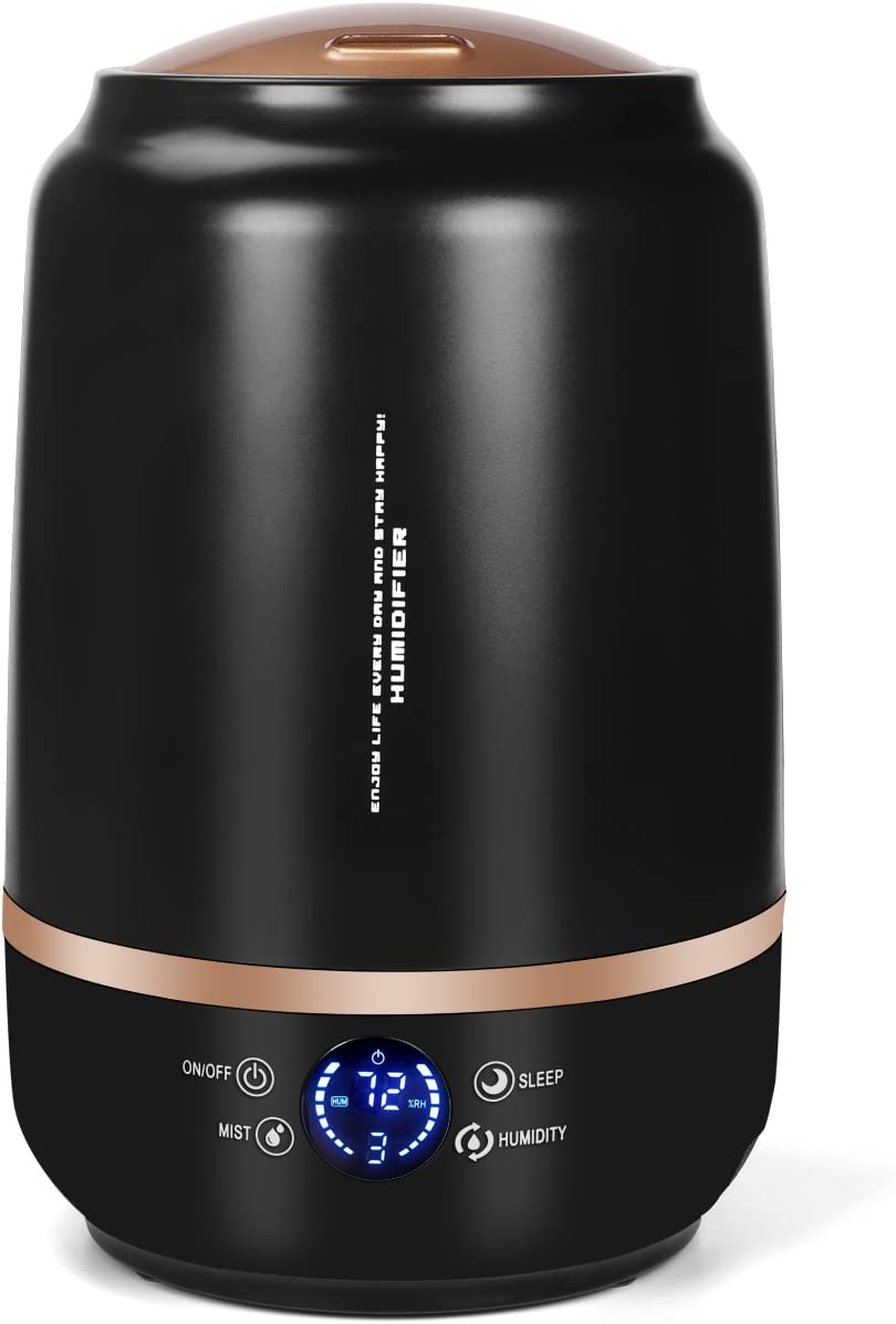 Cool Mist Humidifier, 5L Large Capacity Ultrasonic Air Humidifie