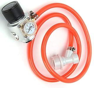 CO2レギュレーターライン、CO2ガスレギュレーター、3 / 8-24UNFスレッド39.4産業用大型タンク用