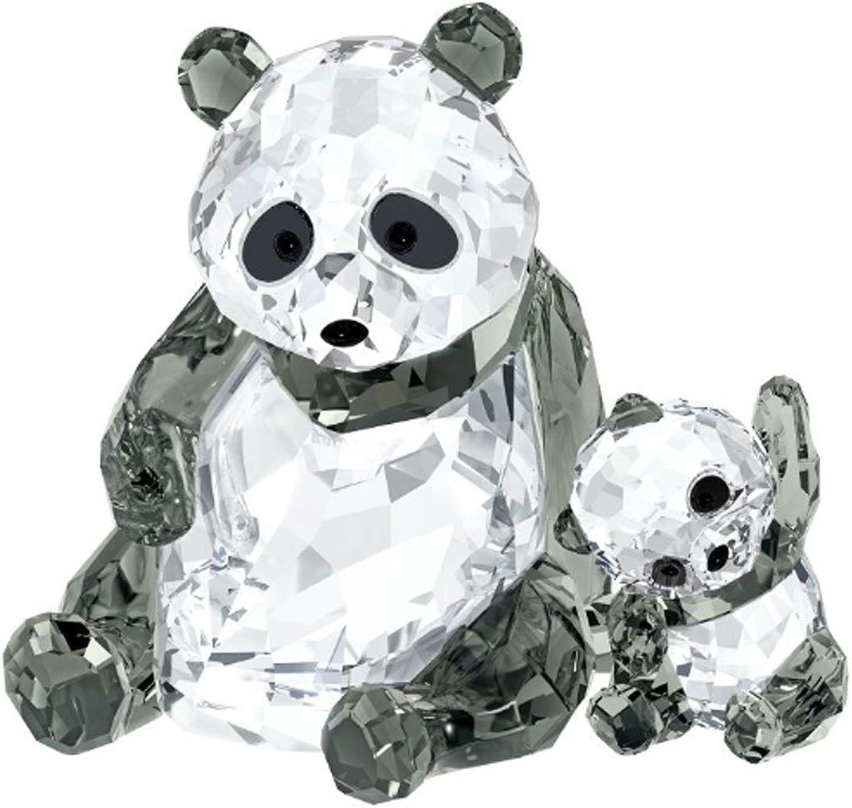 Swarovski 5063690 Pandamutter mit Baby, 8,1 x 10,5 x 7 cm