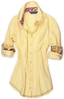 Women's Mellow Yellow B8108-700C Long Sleeve Stretch Blouse