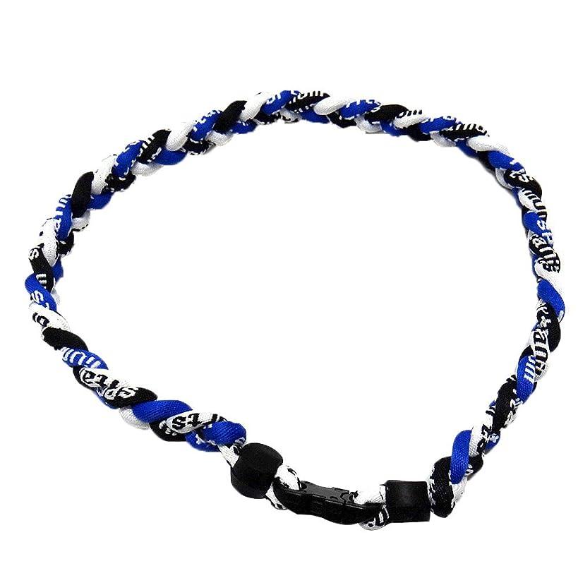Leegoal(TM) Nylon Sport Braided Necklace for Baseball Soccer Softball(Blue,Black and White)
