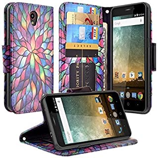 COVERLABUSA Luxury PU Leather Wallet Compatible for ZTE Maven 3 Case, ZTE Overture 3 Case, ZTE Prelude Plus Case, Flip Protective Case Cover with Card Slots and Stand - Rainbow