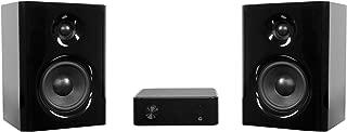 Kanto Surround Headphone Amp Bookshelf Home Speaker, Set of 2, Black (YARO2-SET)