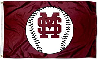 College Flags and Banners Co. Mississippi State Bulldogs Baseball Logo Flag