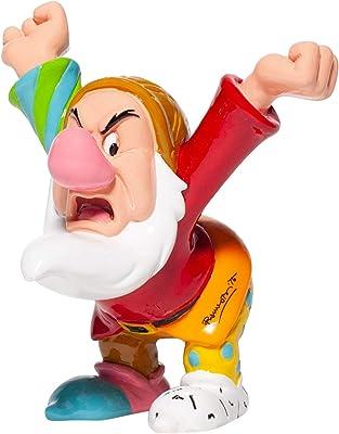 Enesco Disney by Romero Britto Snow White and The Seven Dwarfs Grumpy Miniature Figurine, 4.7 Inch, Multicolor