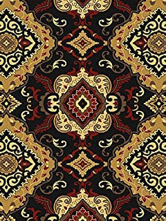 United Weavers Contemporary Rectangle Area Rug 111x3 Black Savannah Manchester Collection