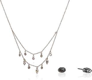 Anne Klein 60549990-5ZU Juego de Collar y Aretes de Mujer, Aleación con Acero Inoxidable, Plata