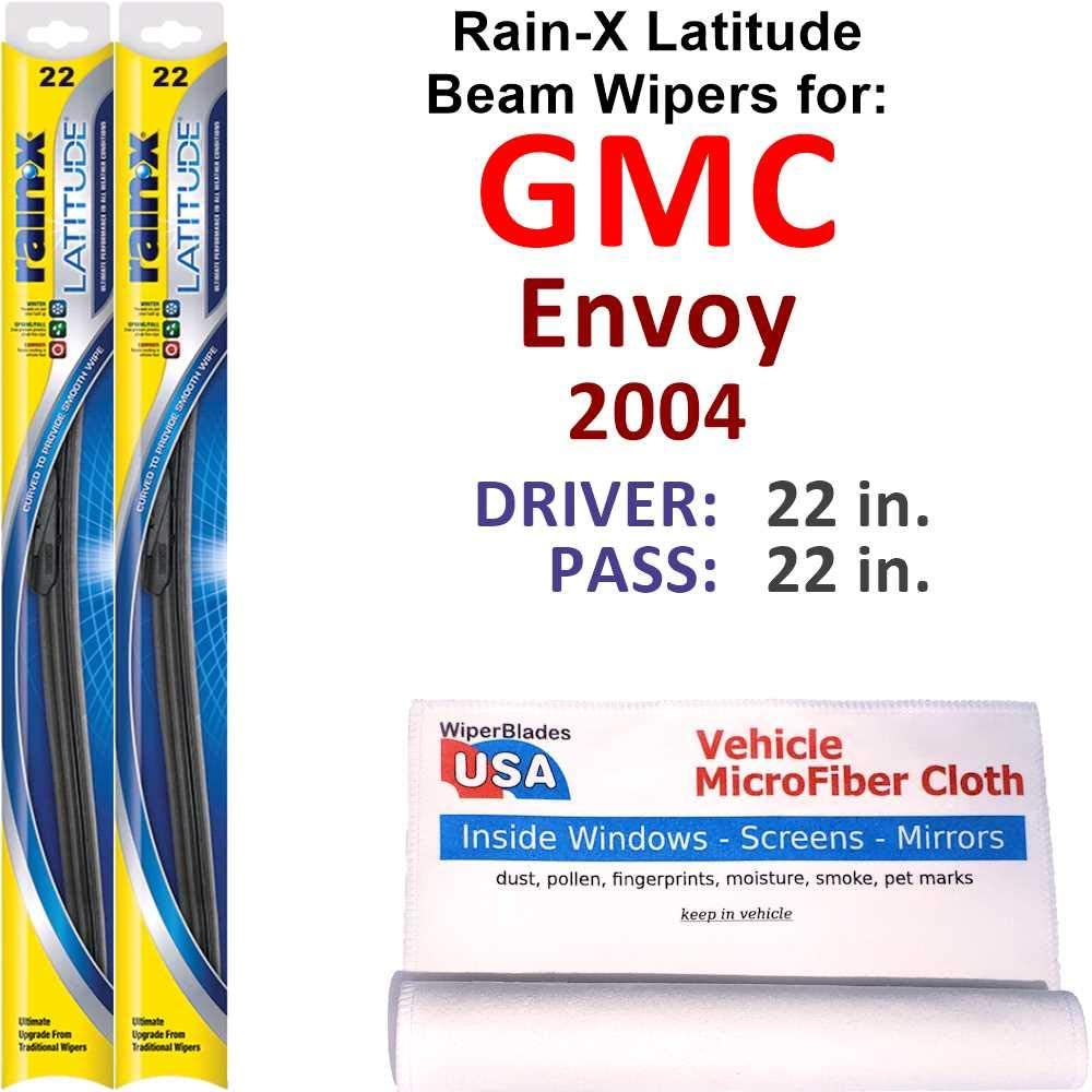 Rain-X Selling and Fort Worth Mall selling Latitude Beam Wiper Blades 2004 Set GMC Envoy for