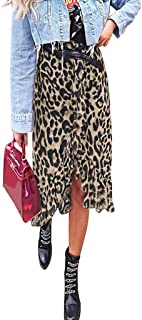 Fashion Womens Sexy England Leopard Printed Split Bandage Evening Party Skirt