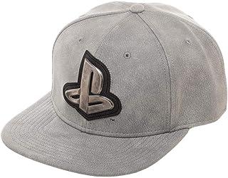 7ad7054c54b Playstation Gray Distressed Metal Logo Snapback Hat
