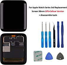 E-yiiviil LCD Display Touch Screen Digitizer Replacement for Apple Watch Series 3 iWatch 38 mm Cellular+GPS(Not Suitable for GPS) with Repair Tool Set(3rd 38mm)