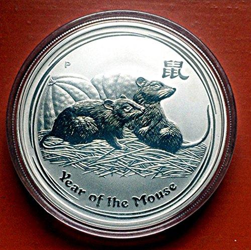 Maus Ratte 1 Unze Silber Silbermünze Anlagemünze Münze Lunar II 2 Perth Mint (engl. Mouse Rat 1 oz Silver Coin)