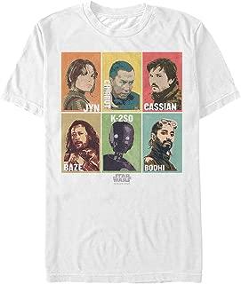 Star Wars Men's Rogue One Rebellion Hero Color Strip T-Shirt