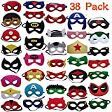 YUNFUN Máscaras de Superhéroe 38 Piezas, Máscaras de Cosplay de Superhéroe, Accesorio de Fiesta Infantil y Adultos, Máscaras para Niños y Adultos (Máscaras de Superhéroe)