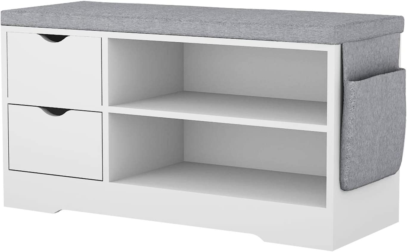Discount is also underway TITISKIN Shoe Bench Ranking TOP5 Entryway with Cushion Storage Removable Seat