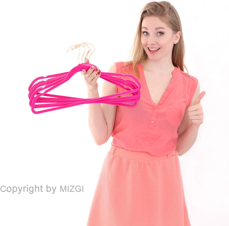 MIZGI premium samtaufh/änger heavyduty nicht beleg-samt-anzug kleiderb/ügel err/öten rosa rose