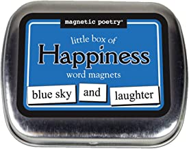 Magnetic Poetry - Little Box of Happiness Kit - Words for Refrigerator - Write Poems and Letters on The Fridge - Made in The USA