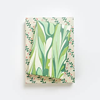Winter Greens - Marbled Paper Gift Wrap Set - Reversible Wrapping Paper with Ribbon, Gift Tags - Wrappily Eco-Friendly Gift Wrap Co.