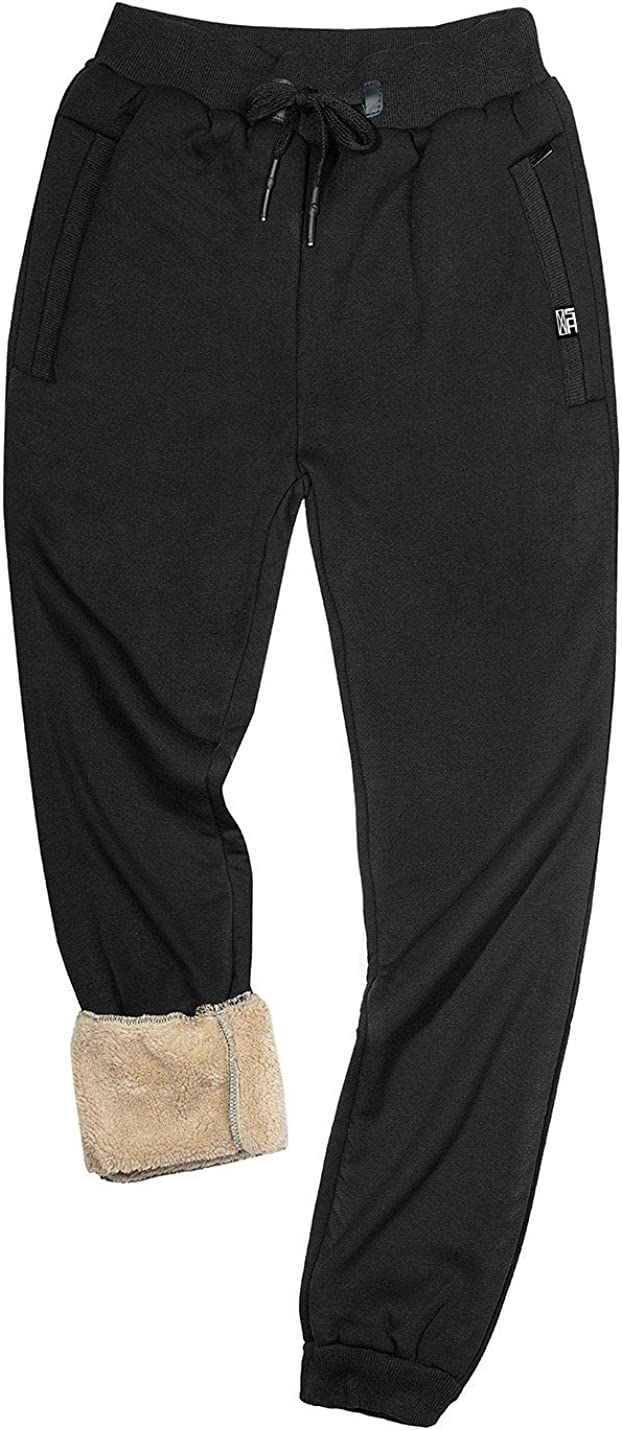 Yimoon Men's Winter Sherpa Lined National products Sweatpants free Jogge Running Active