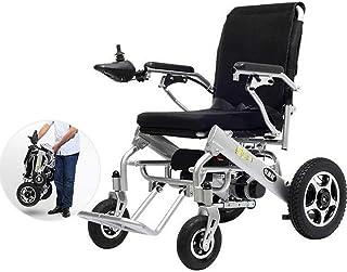 ZHANGYY Sillas de Ruedas eléctricas, sillas de Ruedas eléctricas Ligeras y Plegables, sillas de Ruedas eléctricas automáticas Inteligentes de Transporte multifunción para Viajes, sillas de