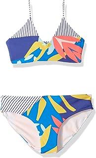 Maaji Girls' Bralette with Adjustable Lace Up Back Bikini Swimsuit Set