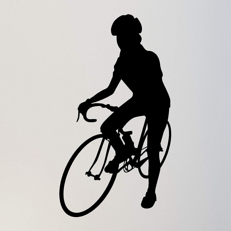 TheVinylGuru - Biking Wall Decal 72 優先配送 in. SALENEW大人気! Ridi Cyclist Sticker