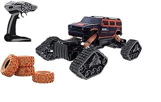 لعبة سيارة بعجلات كبيرة وريموت كنترول للاولاد من اتش بي تويز HB-LD1403 - برتقالي