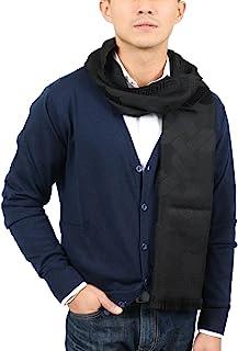 Versace IT00633 NERO Black 100% Wool Mens Scarf