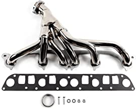 SCITOO Auto Replacement Exhaust Manifold Kits, Exhaust Header Manifold Set Stainless Steel fit Jeep Cherokee XJ 4.0L 6CYL 91 92 1993-1999