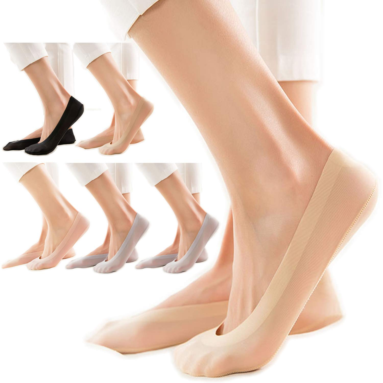 [JK レディース ]JK Ladies ソックス フットカバー ナイロン ステルス 滑り止め 淺口 浅履き 脱げにくい 吸汗 速乾 抗菌 防臭 パンプス 靴下 6/12足セット