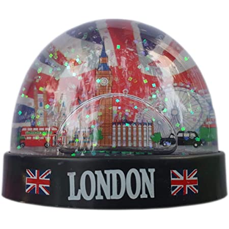 Londres Boule de Neige Big Ben Taxi Royaume-Uni Demi-Ronde Snowglobe Souvenir