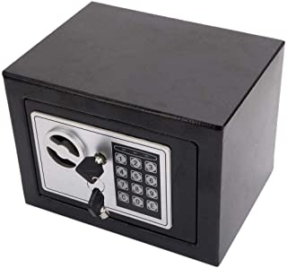 Small Digital Safe Box Security Locker With Electronic Keyless Entry For Home and Office 20EB Black