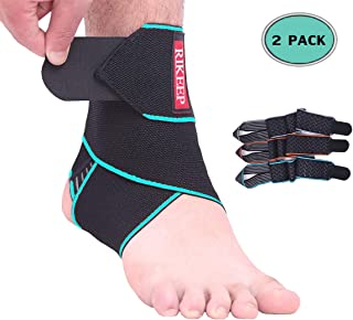 Ankle Support,1 Pair Adjustable Ankle Brace Compression Wrap Super Elastic and Comfortable,1 Size Fits All, Protects Against Chronic Ankle Strain, Sprains Fatigue,Blue