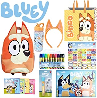 Bingo SHOWBAG - from Bluey Kids Show - Inc. Backpack , Drink Bottle, Headband, Markers , Memory Game , Placemat , Projecto...