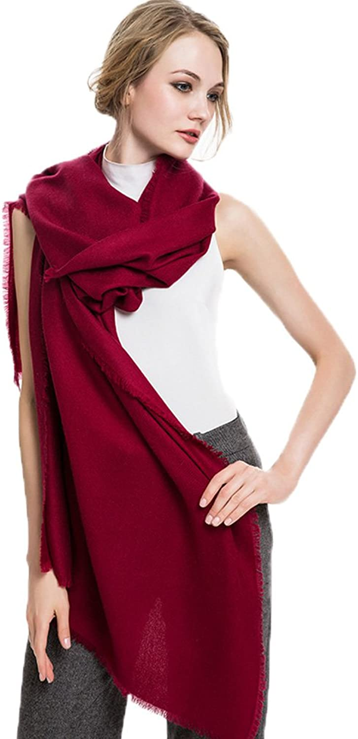 MINGXINTECH Womens Woolen Cashmere Thin Light Scarf 20 Solid color Choices