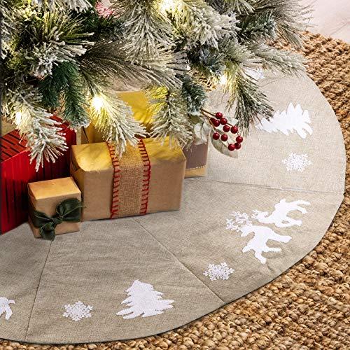 FREESOO Falda de Árbol de Navidad Adornos 122CM Base Alfombra de Árbol...