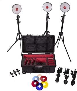 Kit Rotolight Neo Tres luz del Estudio con el Rodillo Duro, Soportes y 360 Pro Monta Cabeza de la Bola